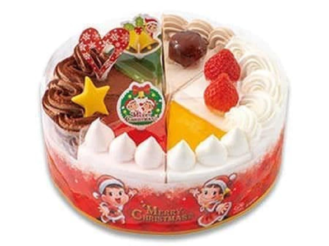 不二家「クリスマスアソートケーキ」