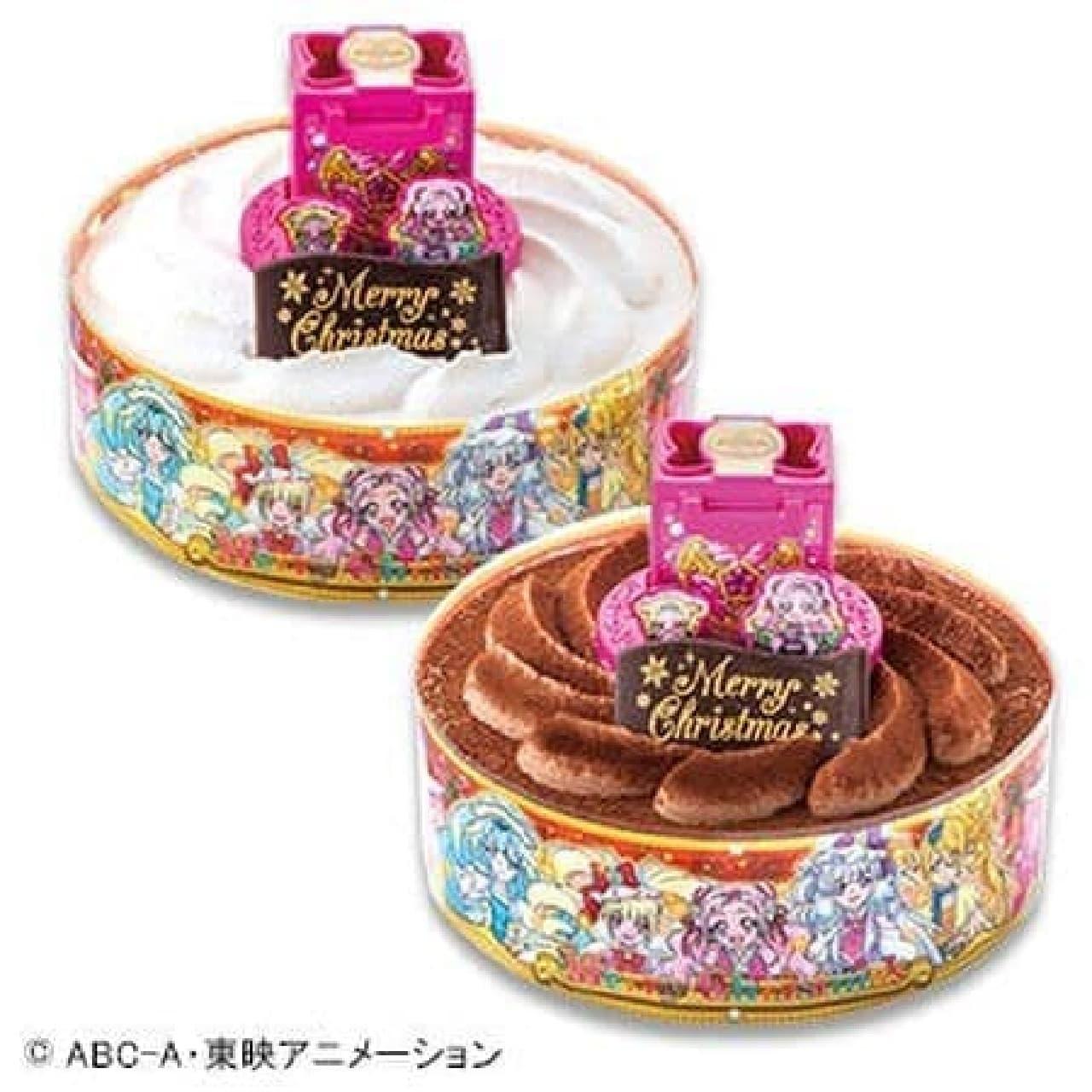 不二家「キャラデコクリスマス HUGっと!プリキュア チョコレートケーキ」