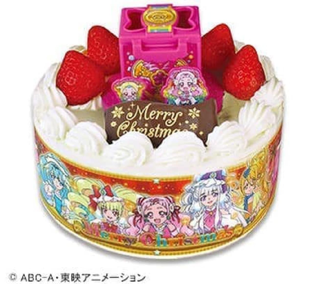 不二家「キャラデコクリスマス HUGっと!プリキュア ショートケーキ」