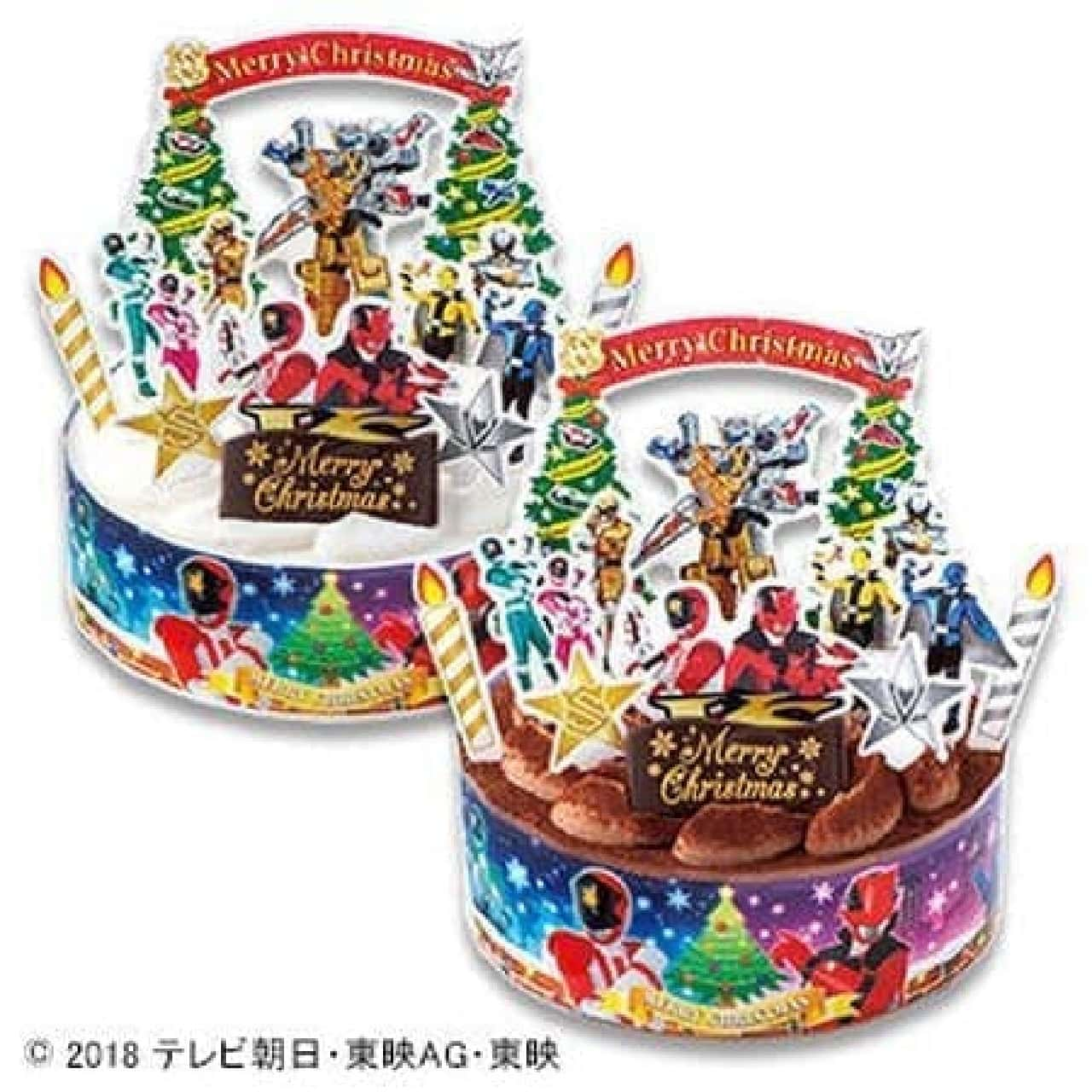 不二家「キャラデコクリスマス 怪盗戦隊ルパンレンジャーVS警察戦隊パトレンジャー チョコレートケーキ」