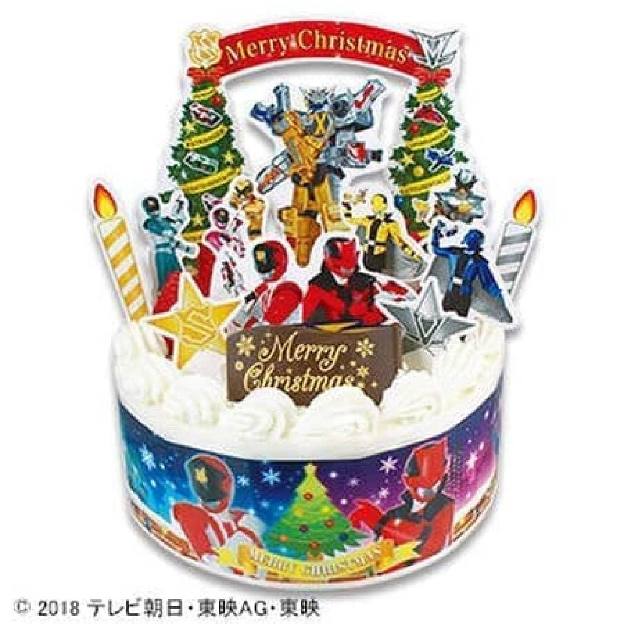 不二家「キャラデコクリスマス 怪盗戦隊ルパンレンジャー VS警察戦隊パトレンジャー ショートケーキ」