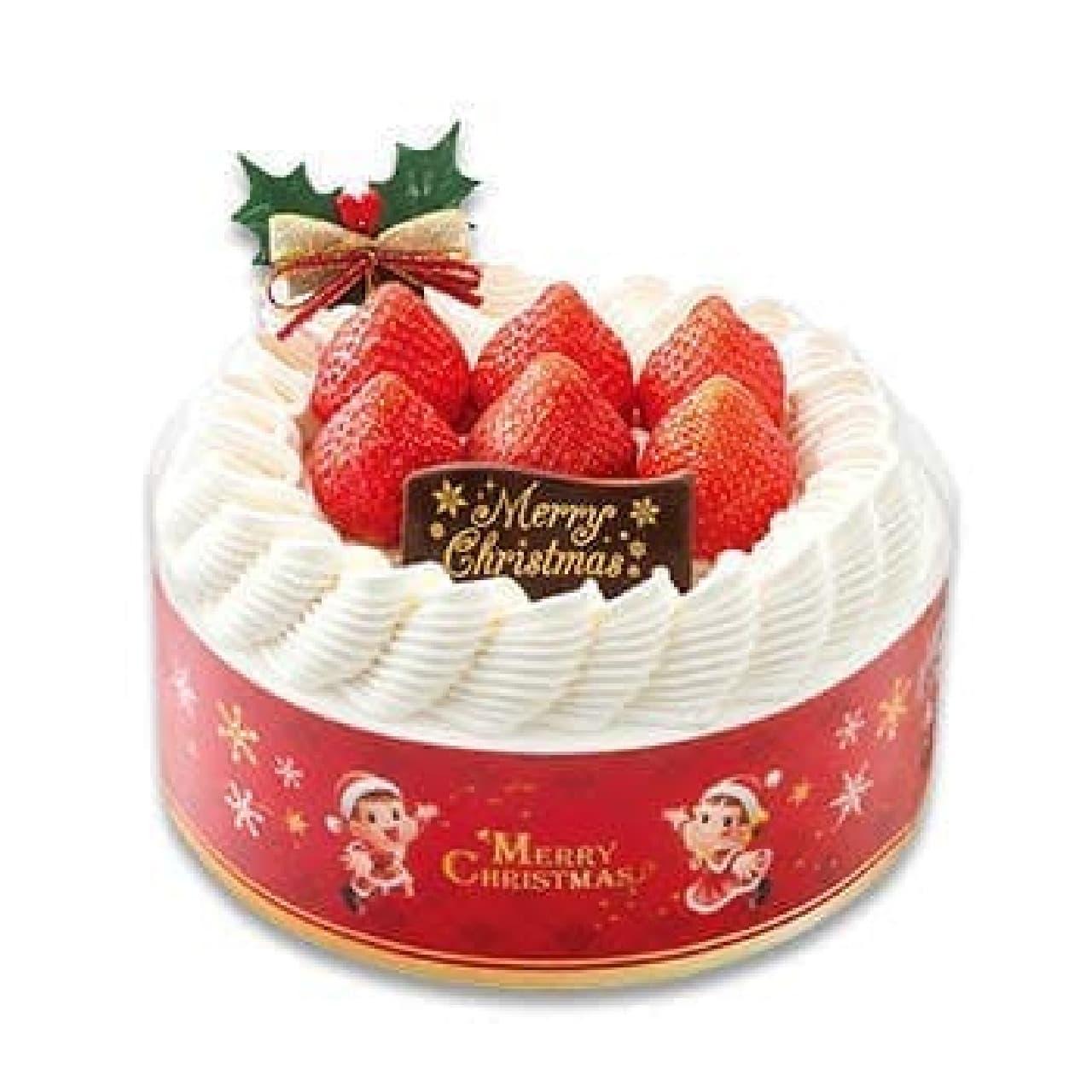 不二家「クリスマス苺のスペシャルショートケーキ」