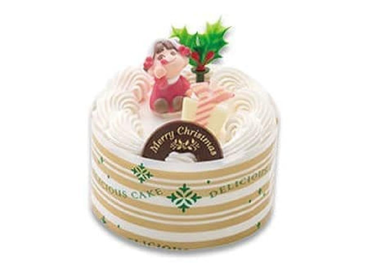 不二家「ペコちゃんサンタのミニケーキ」