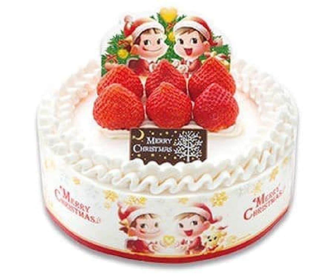 不二家「クリスマスショートケーキ (フルーツサンド)」