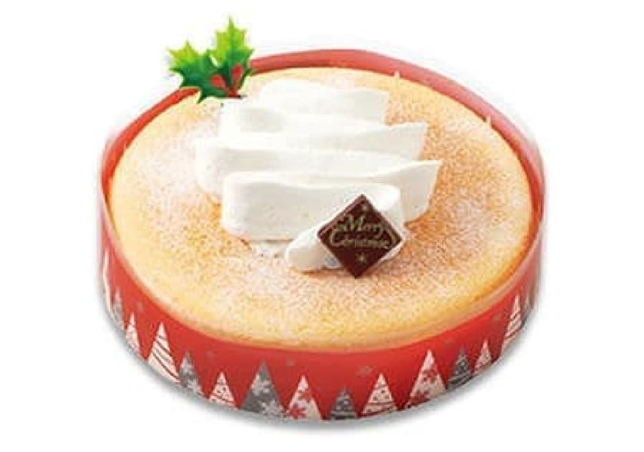 不二家「クリスマススフレチーズケーキ」