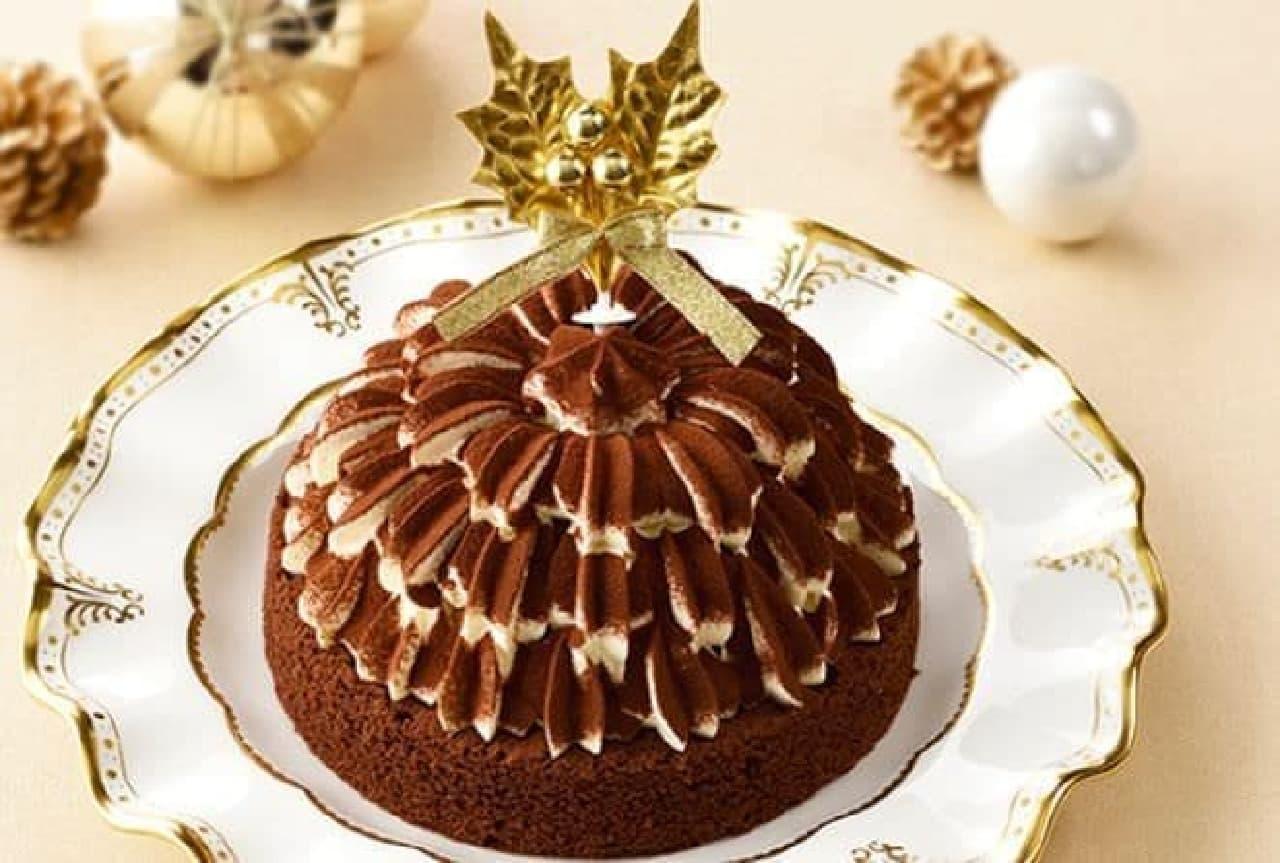 銀座コージーコーナー「クリスマスティラミスケーキ(5号)」