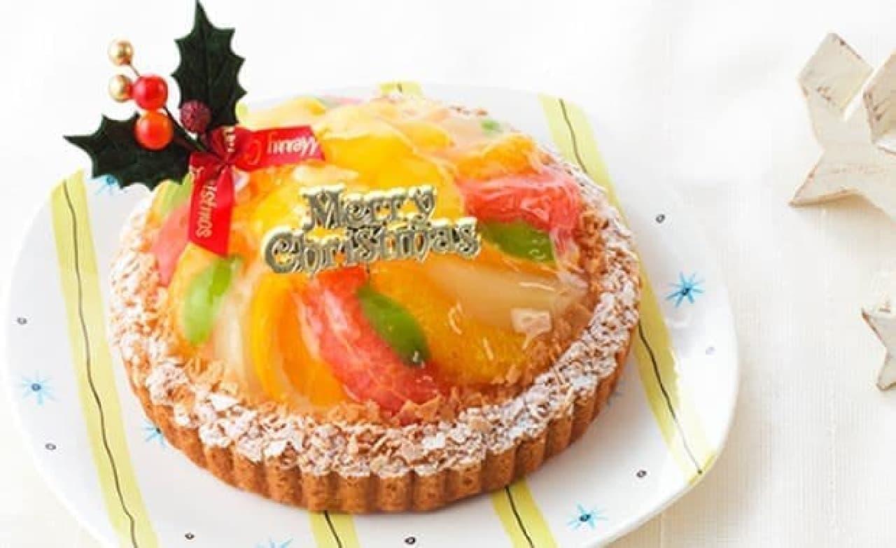 銀座コージーコーナー「クリスマスフルーツタルト(5号)」