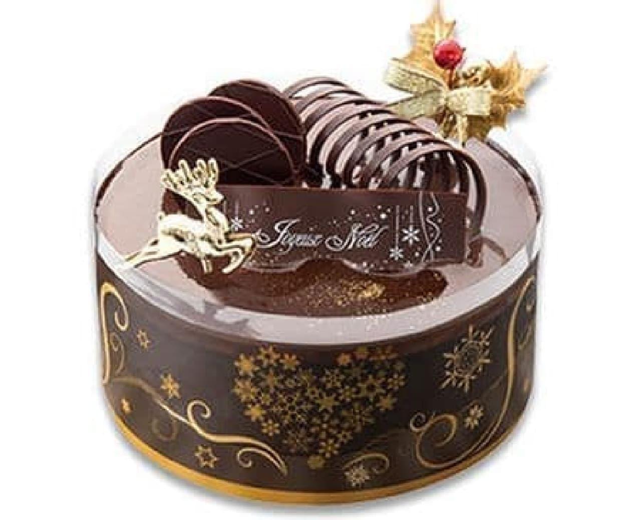 不二家「フランス産ショコラ入りムースのプレミアムクリスマスケーキ」