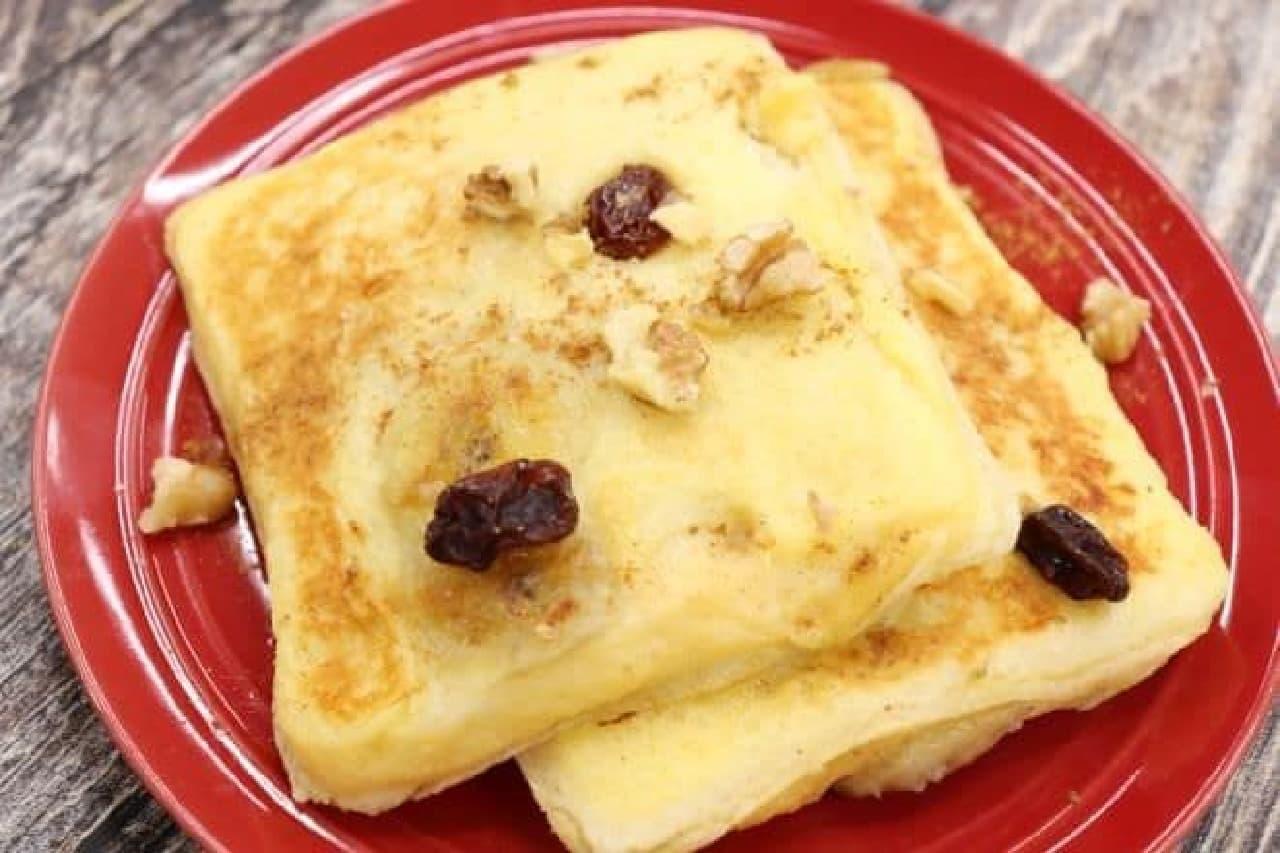 「ランチパック(ピーナッツ)」を使ったフレンチトースト