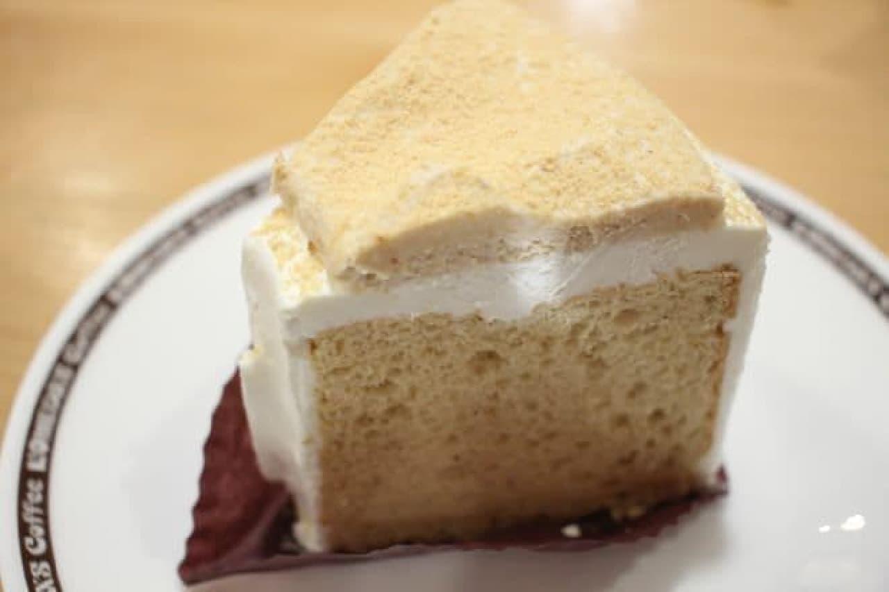コメダ珈琲店「きな粉と豆乳クリームのシフォン」