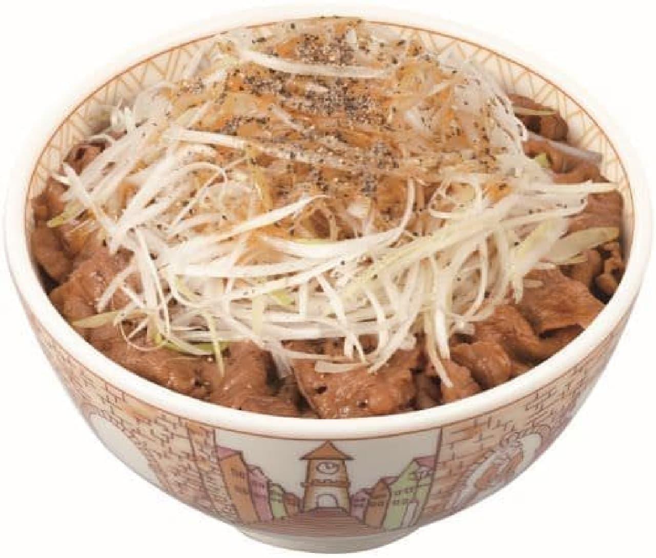 すき家「白髪ねぎ牛丼」