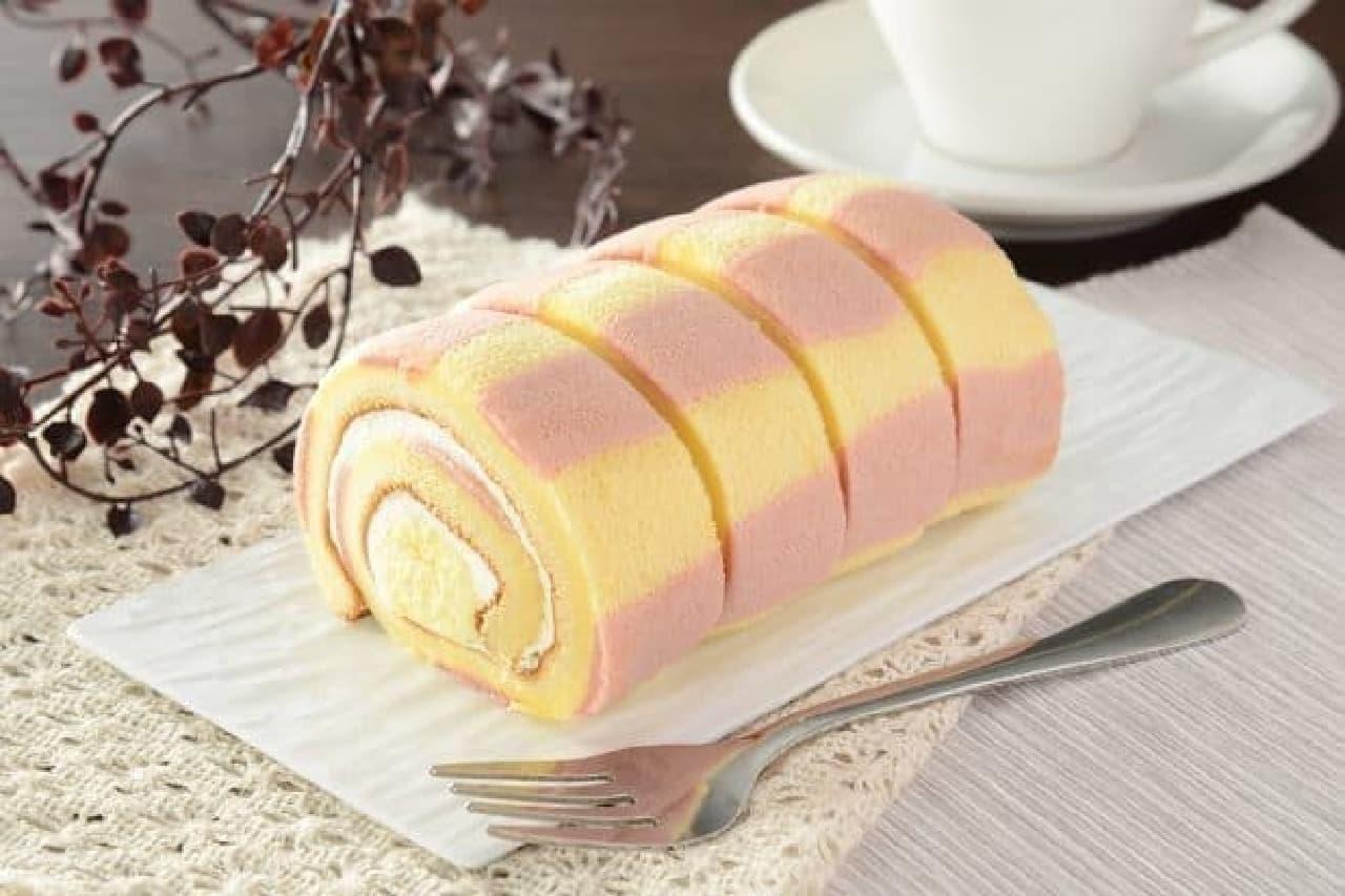 ローソン「大きなもち食感ロール(ホイップクリーム&カスタードホイップ)」