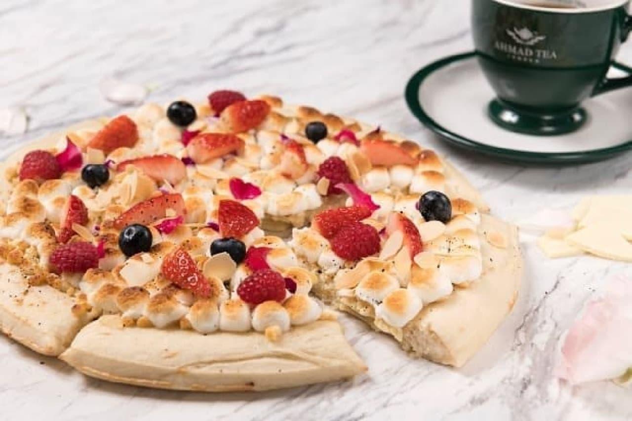 マックスブレナーチョコレートバー「ホワイトチョコレートミルクティーピザ」