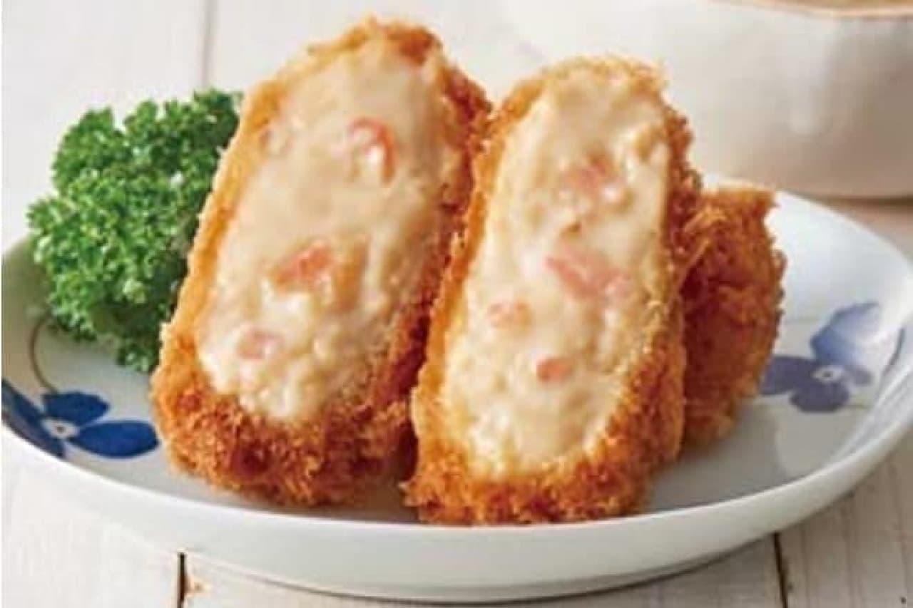 とんかつ和幸で「海老と蟹のクリームコロッケ」