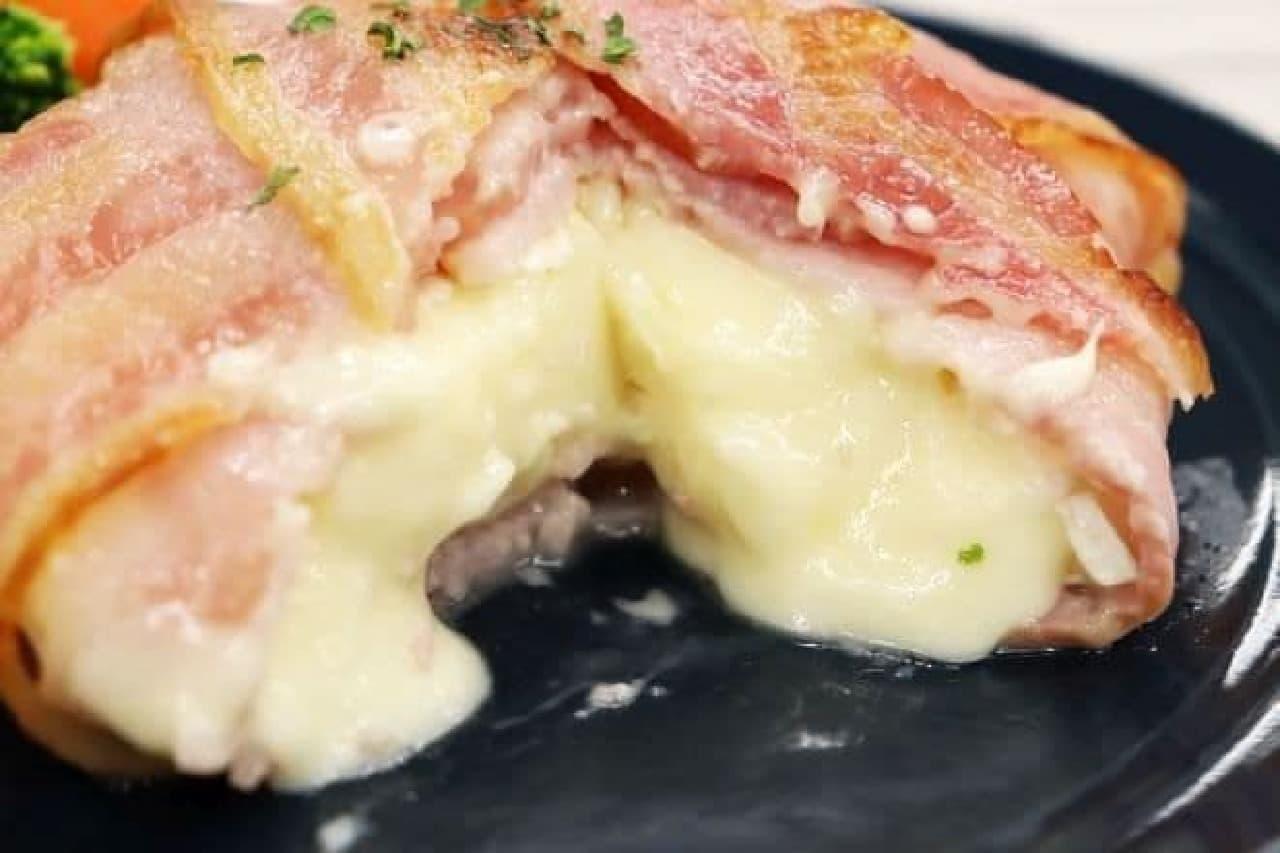 カマンベールチーズで作る「カマンベールのベーコン巻き」
