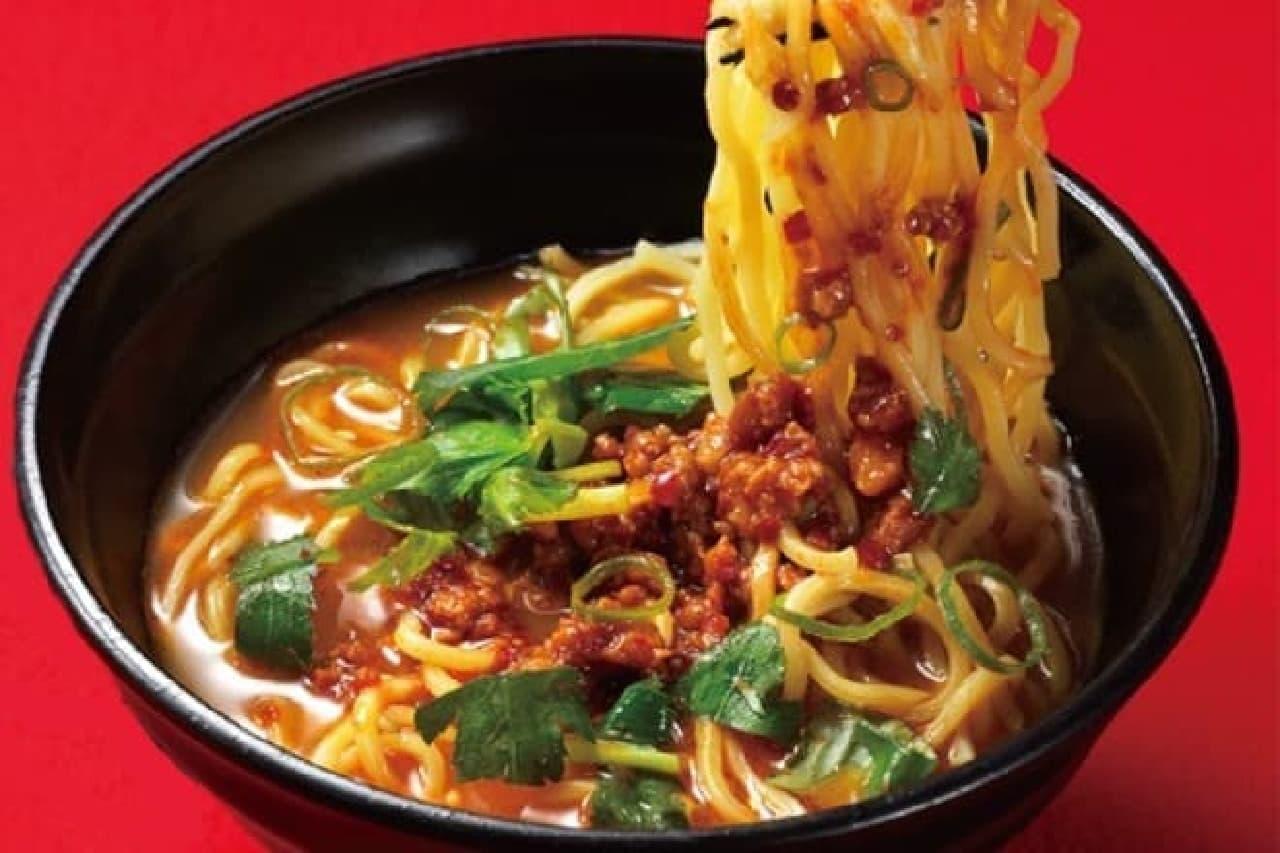 かっぱ寿司「肉味噌辛辣ラーメン~赤葱醤使用特製スープ~」
