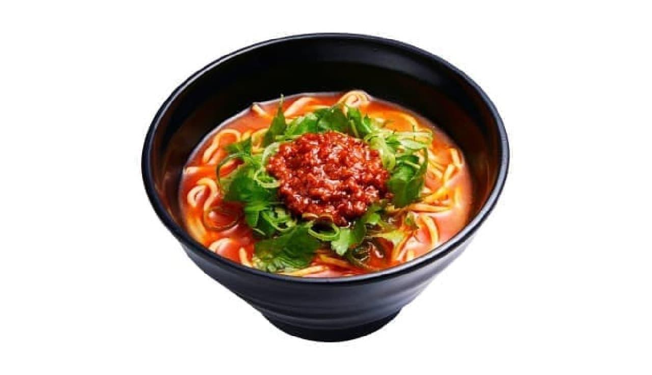 かっぱ寿司の「肉味噌辛辣ラーメン~赤葱醤使用特製スープ~」