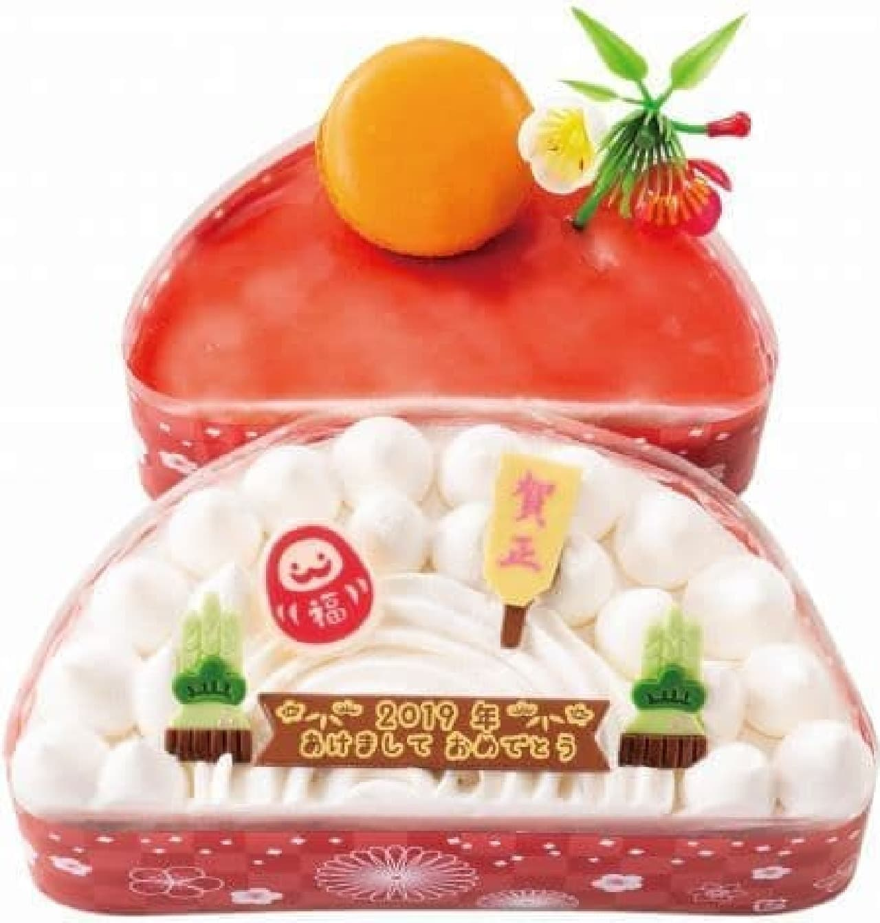 不二家洋菓子店「新春鏡もちケーキ」