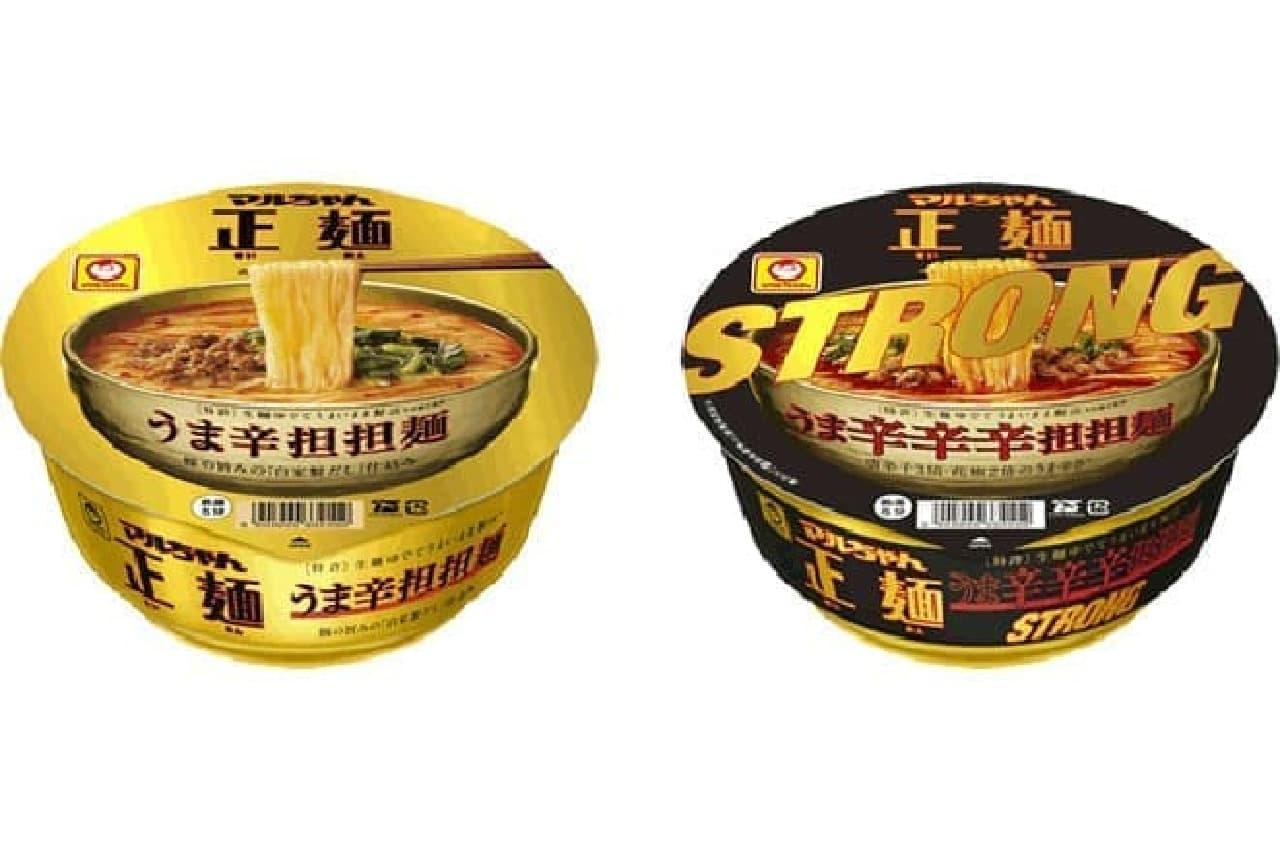 東洋水産「マルちゃん正麺 カップ うま辛辛辛担担麺 STRONG」
