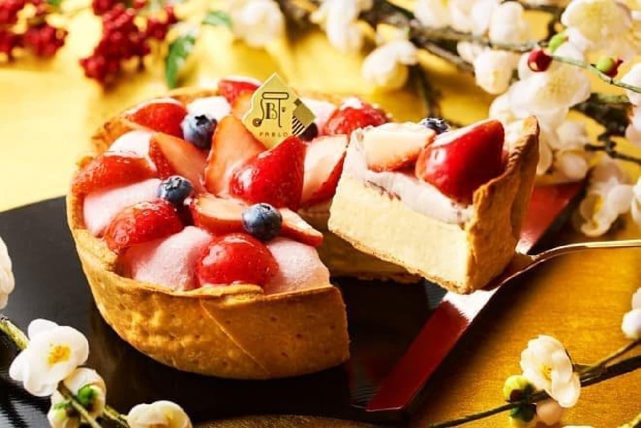 パブロのチーズタルト-いちご大福-