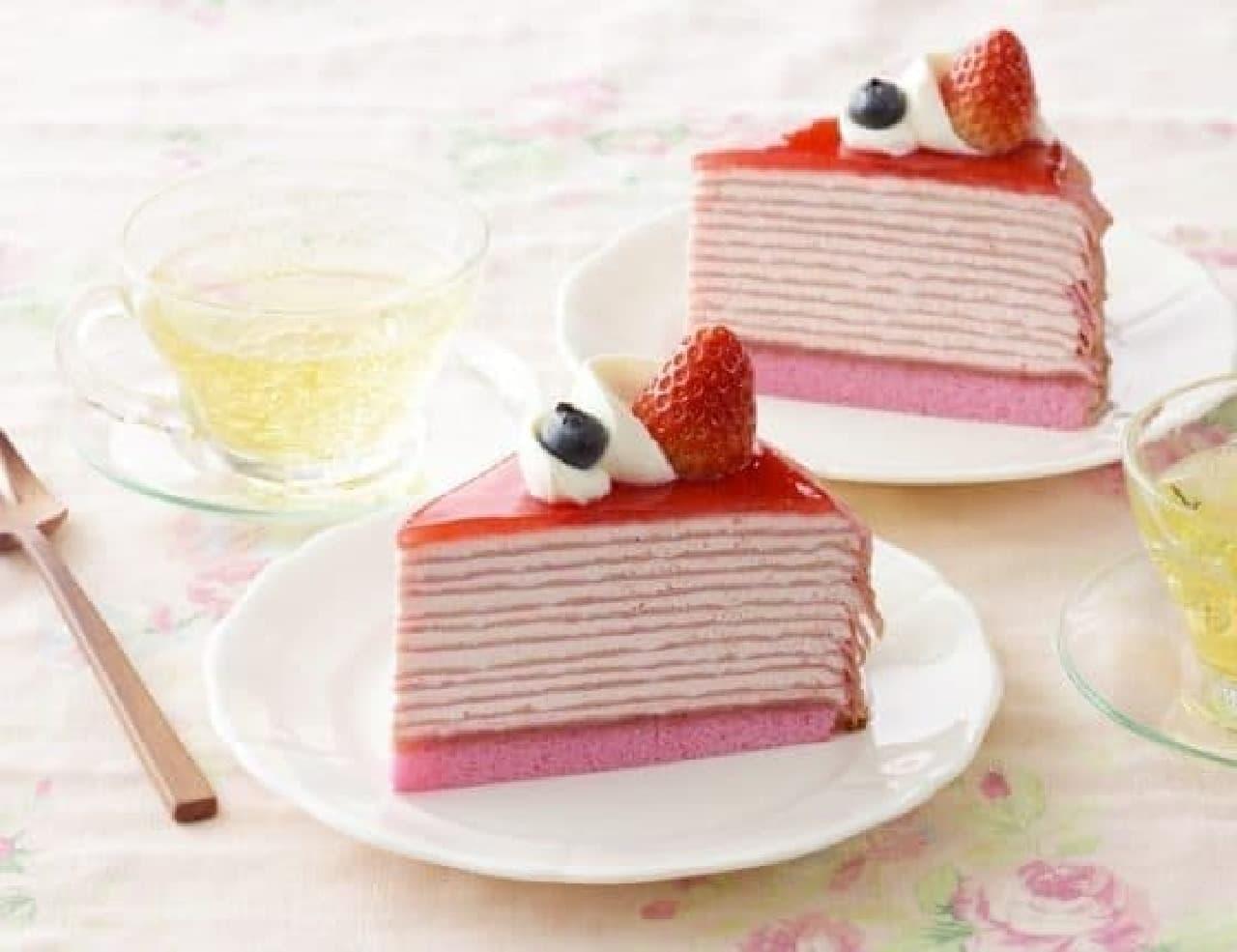 銀座コージーコーナー「濃厚苺のミルクレープ」