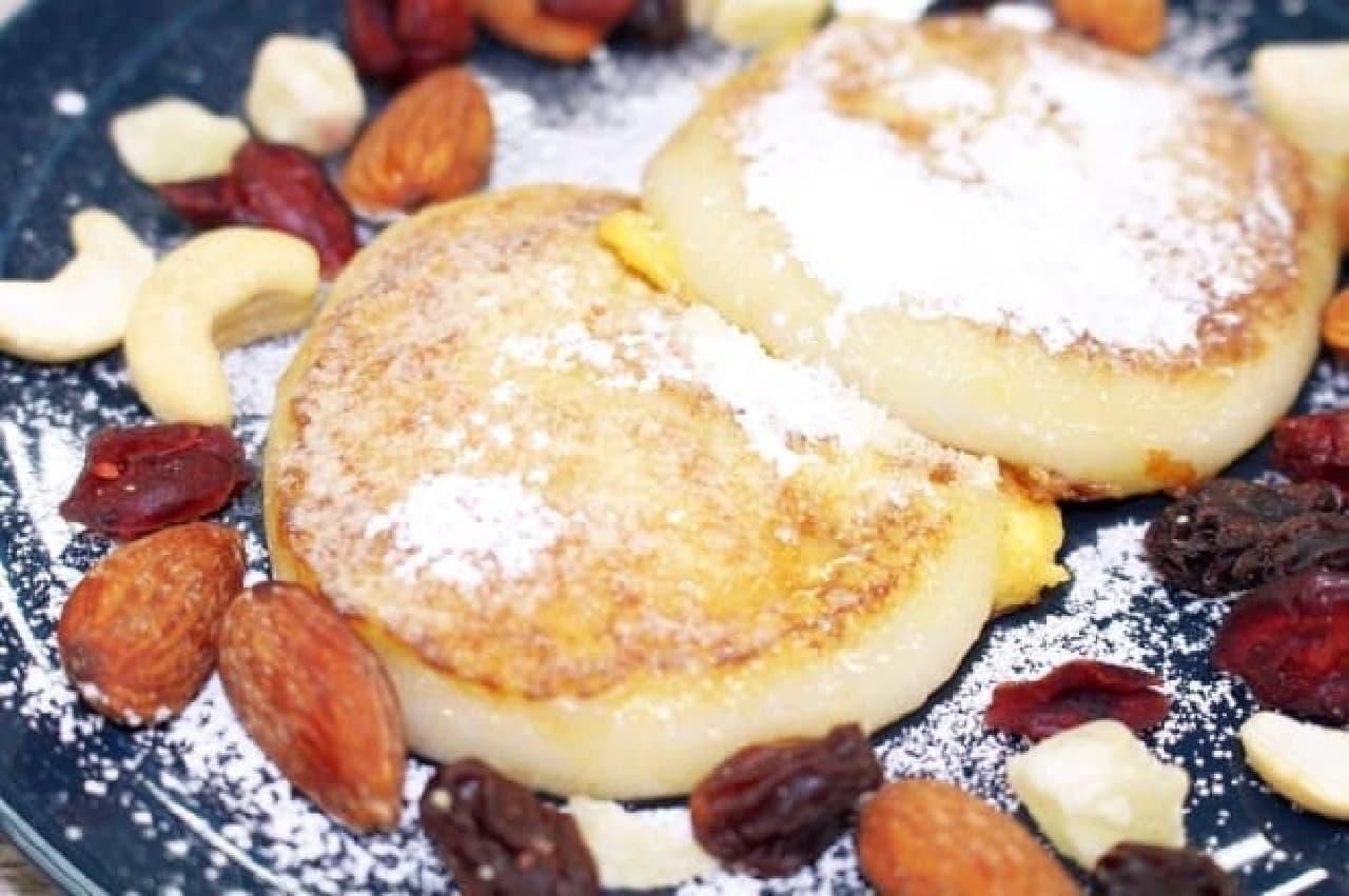 アレンジレシピ「お餅フレンチトースト」