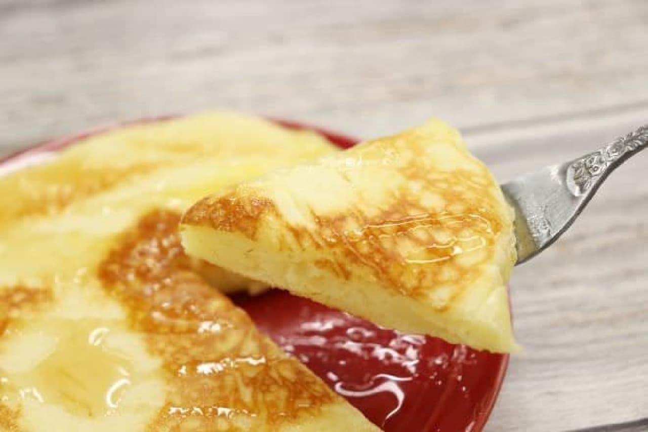 アレンジレシピ「餅入りパンケーキ」