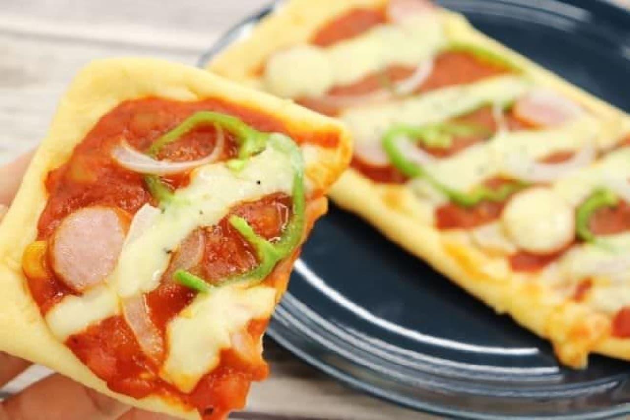 アレンジレシピ「油揚げピザ」