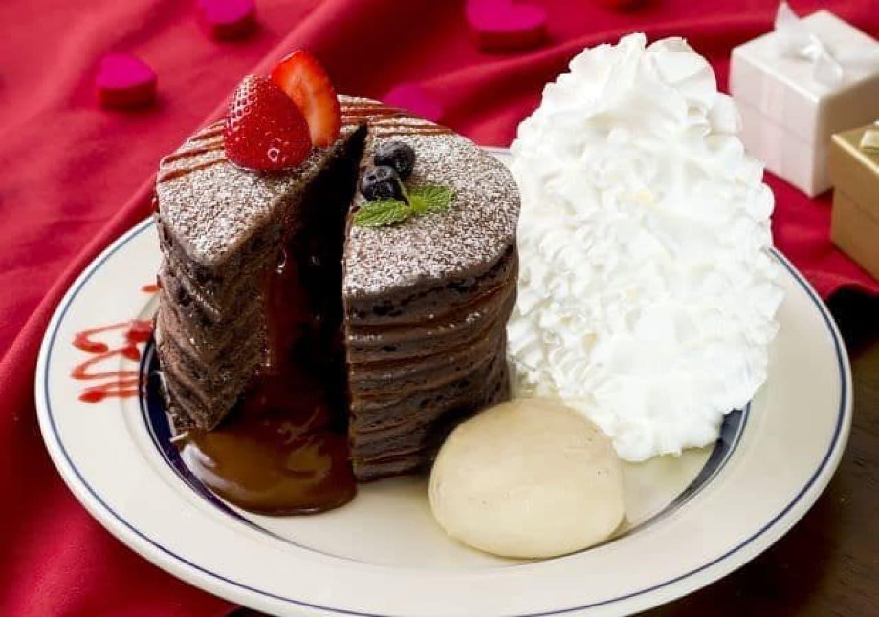 エッグスシングス「フォンダンショコラパンケーキ」