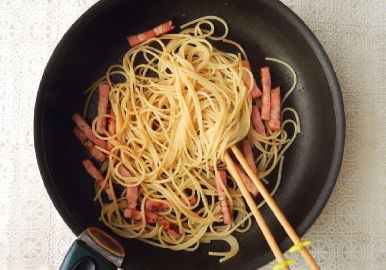 「クリープ」を使った本格カルボナーラのレシピ