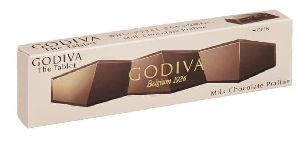 ゴディバ ザ タブレット ミルクチョコレート プラリネ