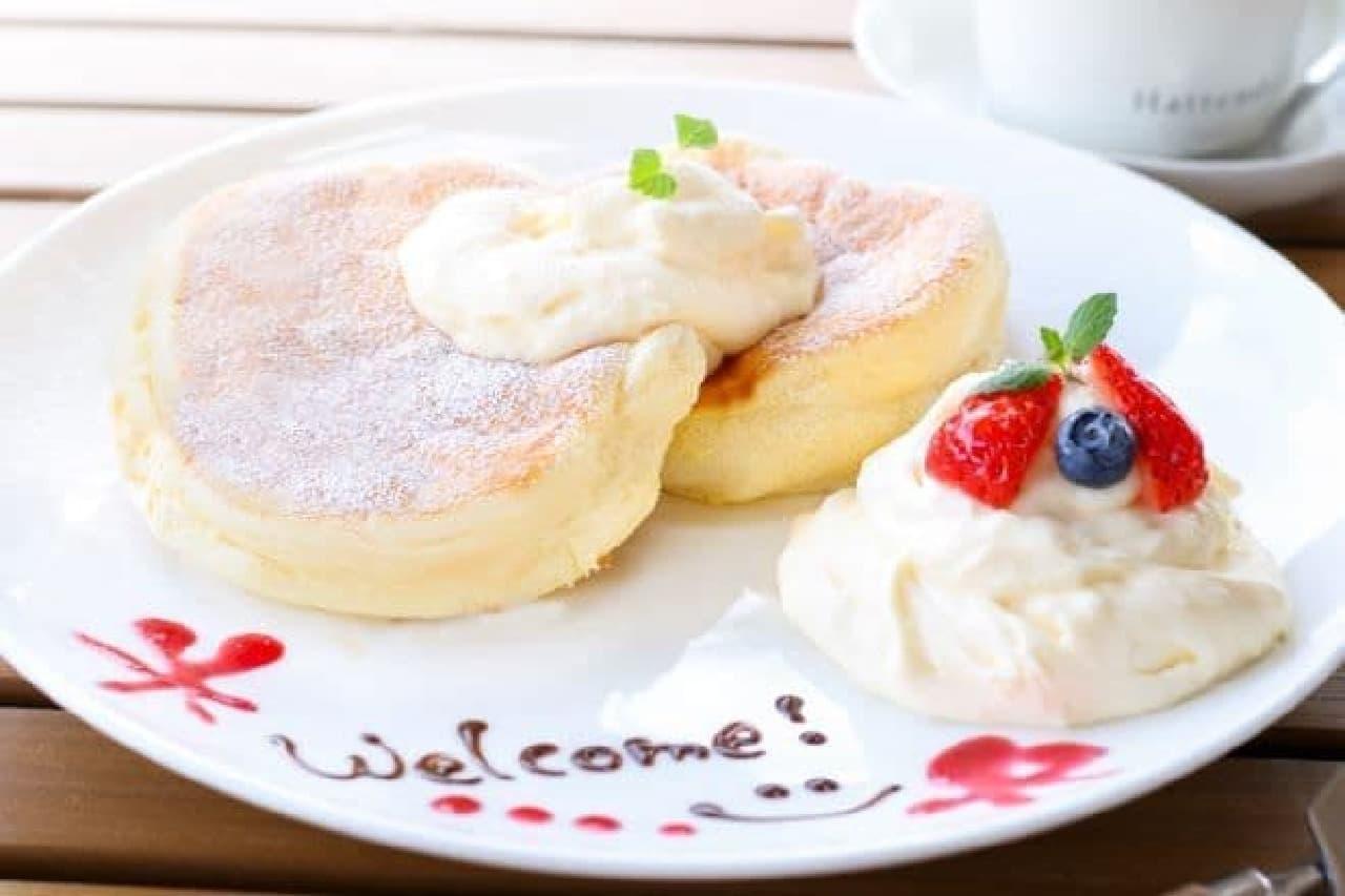 """八天堂カフェリエ """"とろけるパンケーキ"""""""