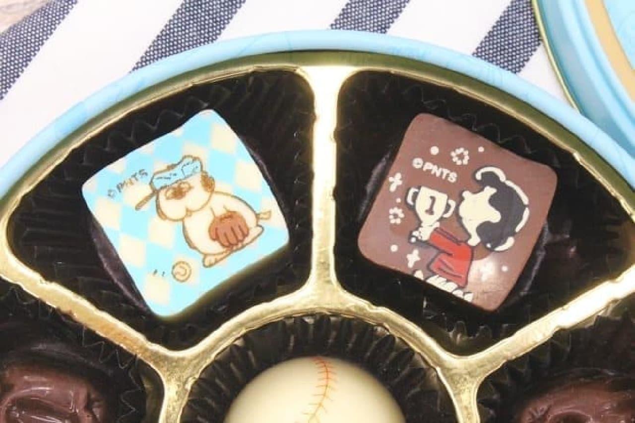 スヌーピー PEANUTS チョコレート ベースボール缶