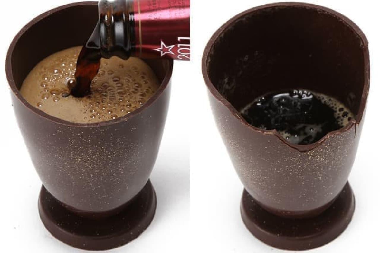 サンクトガーレンの「チョコで作ったグラス」