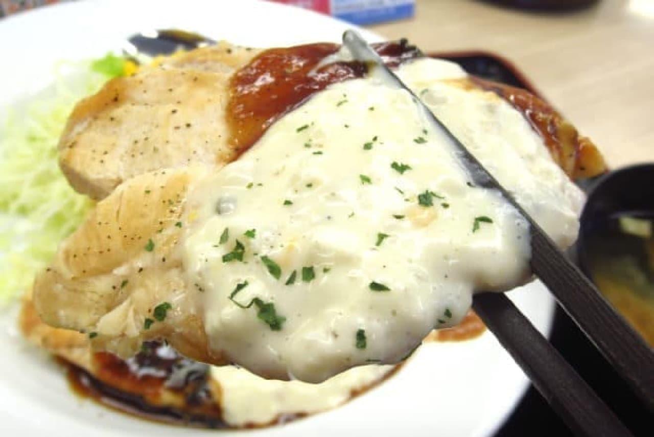 松屋の「鶏タルささみステーキ定食」