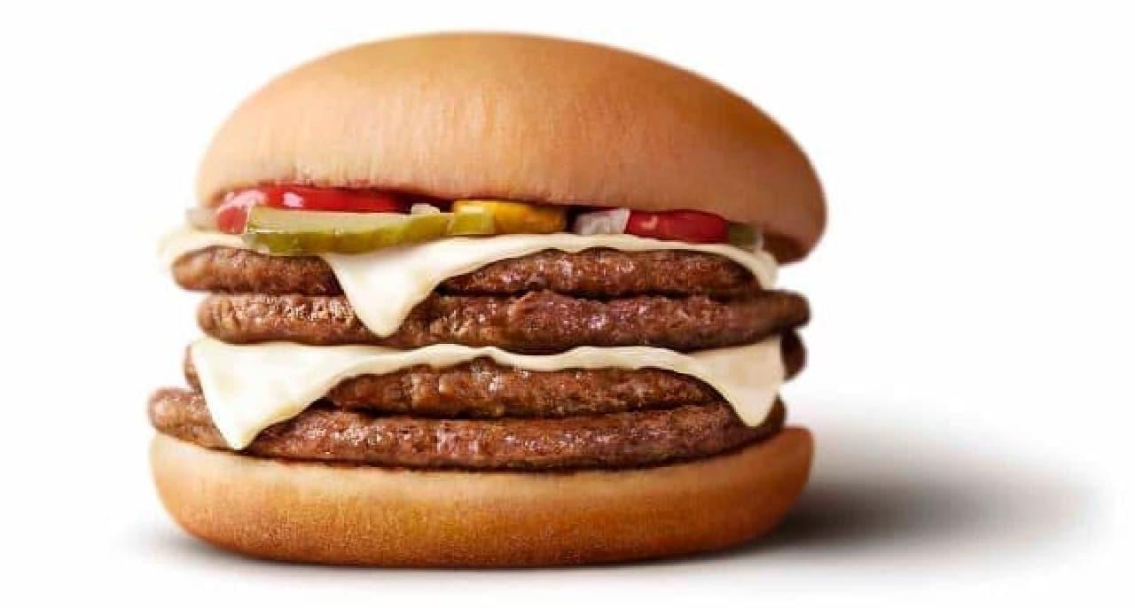 マクドナルドで「白星(しろぼし)ダブルビーフダブルチーズバーガー」