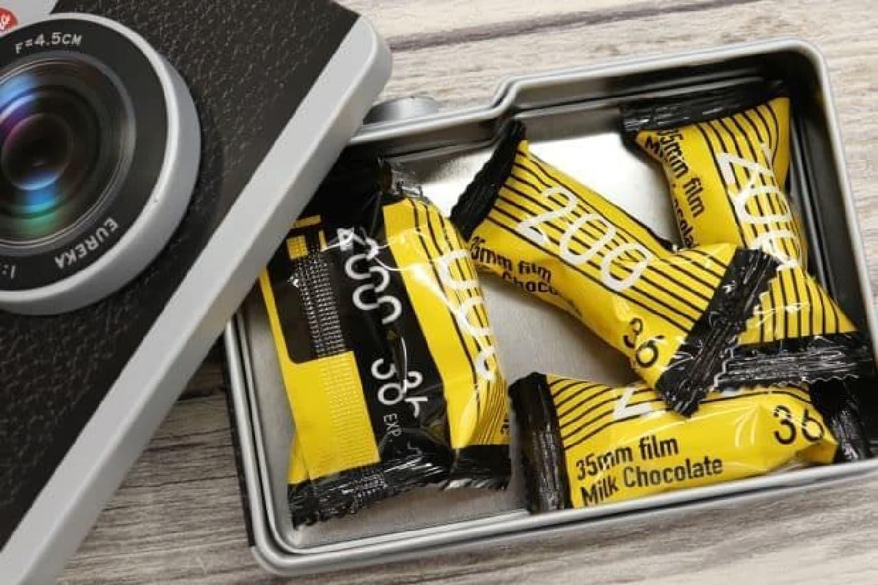 カルディ「チョコ カメラ缶」