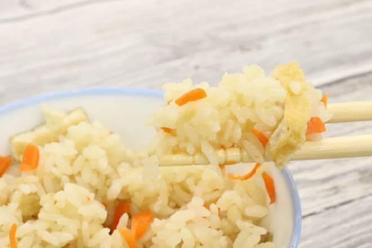 パルメザンチーズで作った「パルメザンチーズの和風炊き込みご飯」