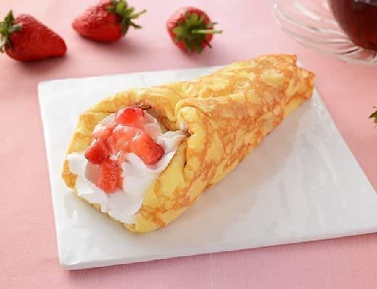 ローソン「苺&バナナのクレープ包み」