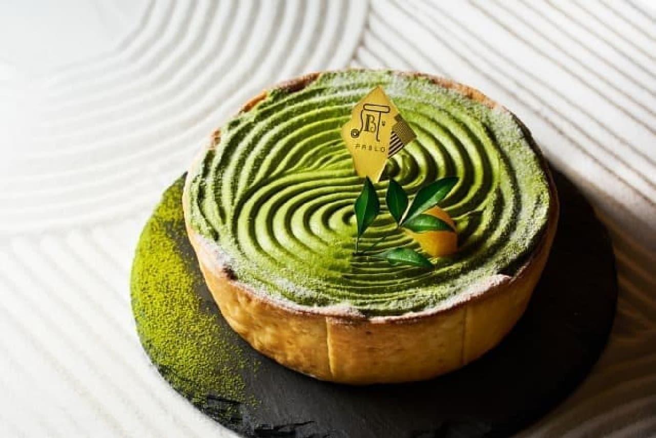 グリーンパブロなんばCITY店「宇治抹茶チーズタルトZEN-栗とあんこもち-」
