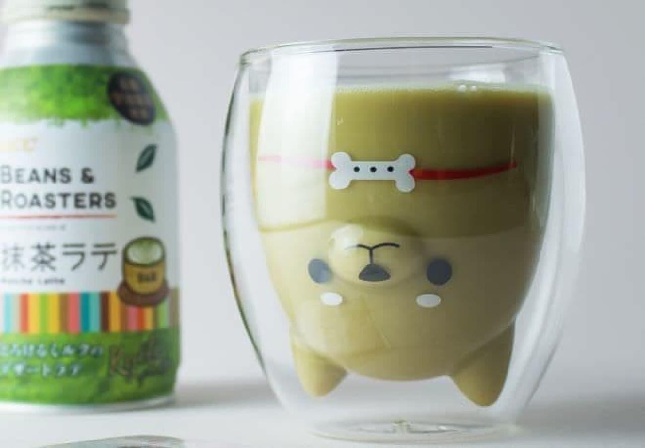 GOODGLASのデザインダブルウォールグラス「しば犬」