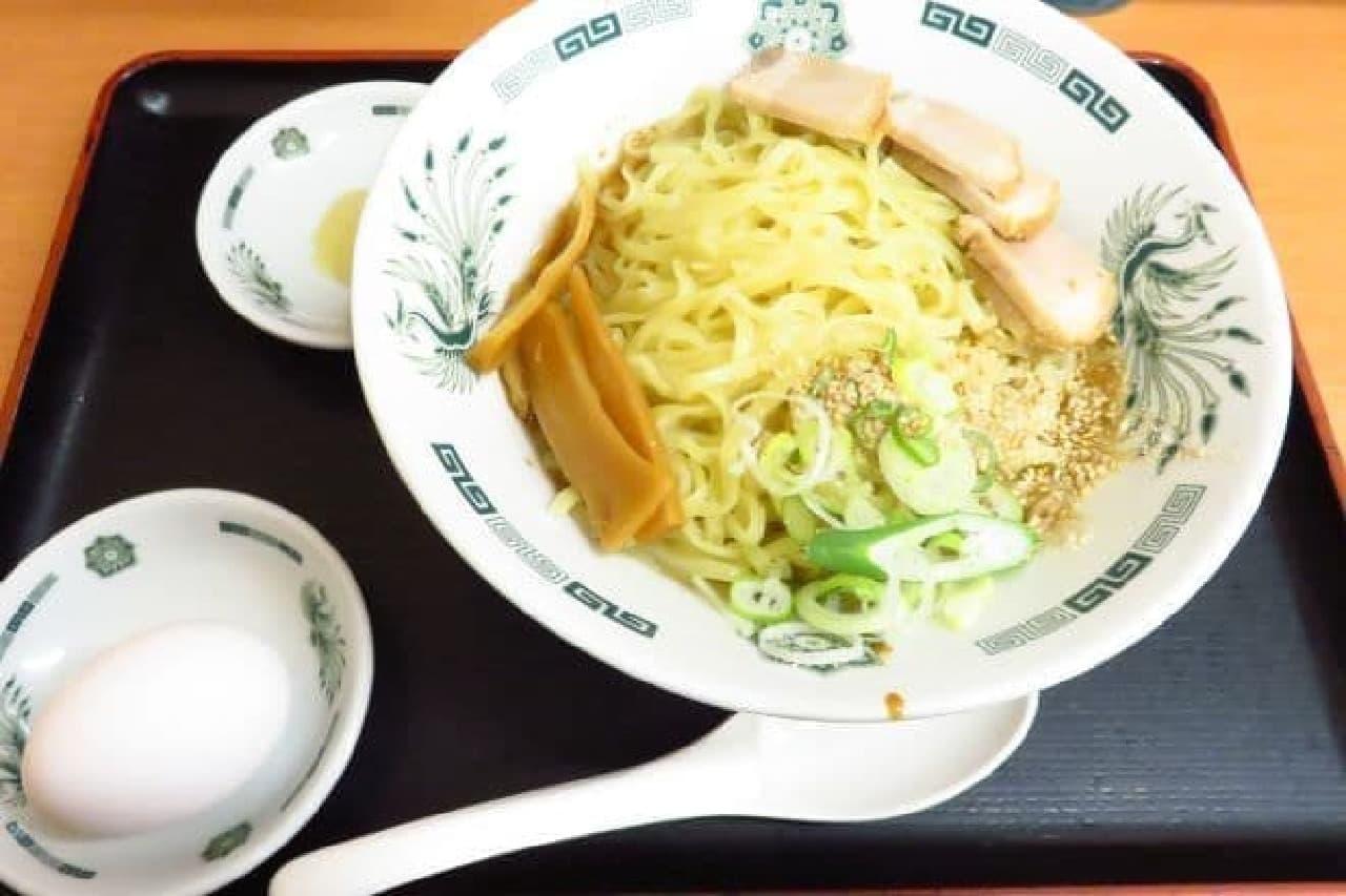 日高屋「汁なしラーメン(油そば)」