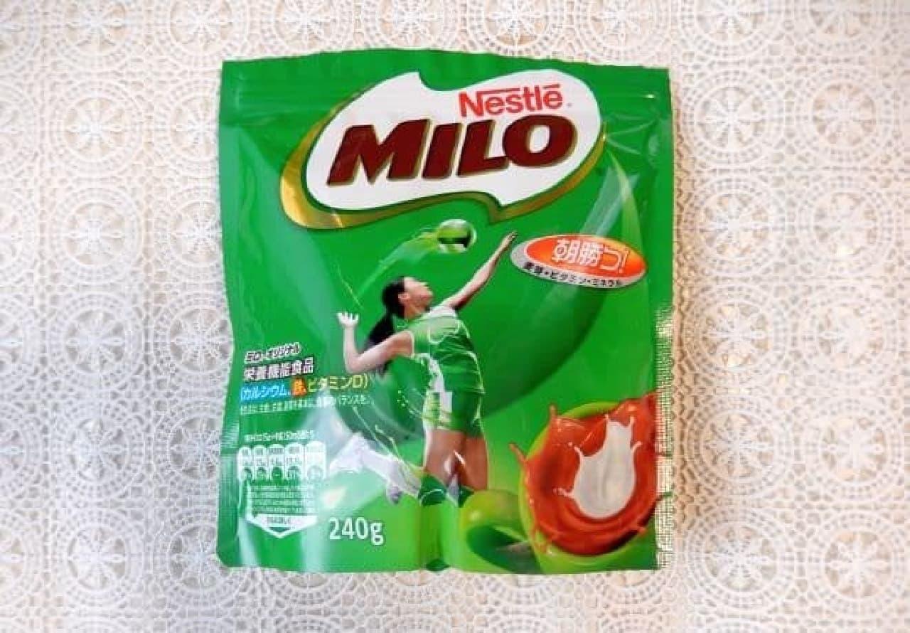 """ミロを型に詰めた焼くだけの""""ミロクッキー"""""""
