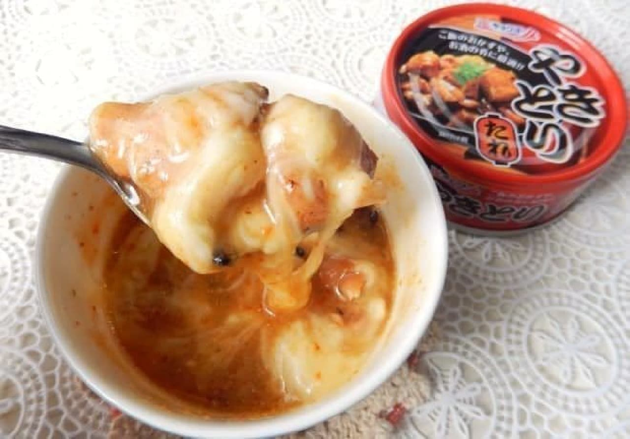やきとり缶で作る「チーズタッカルビ」のレシピ
