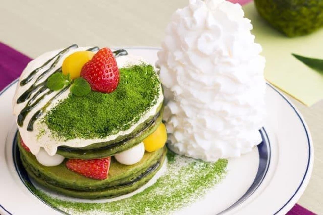 エッグスンシングス「宇治抹茶のティラミスパンケーキ」