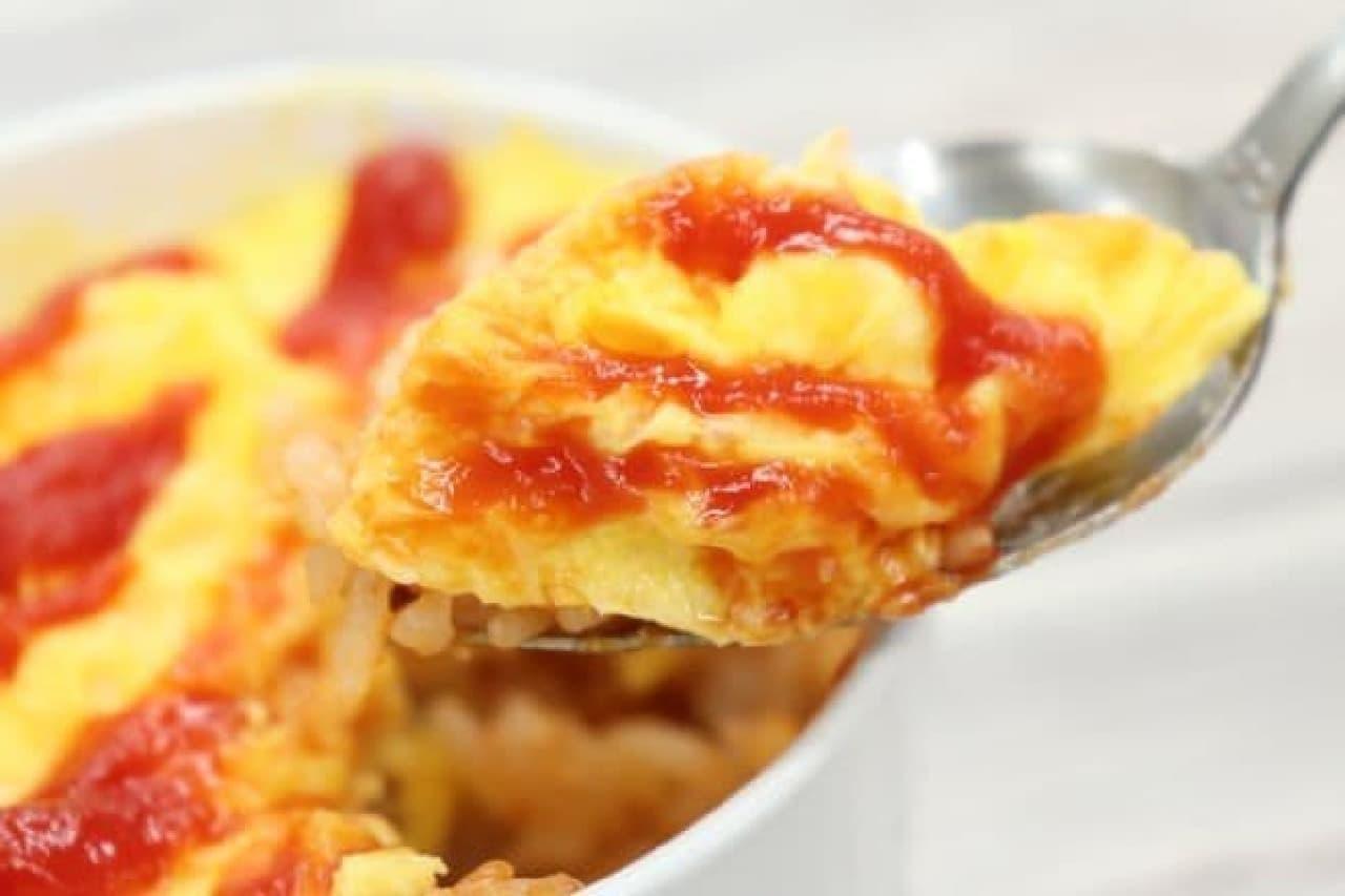 簡単レシピ「マグカップオムライス」