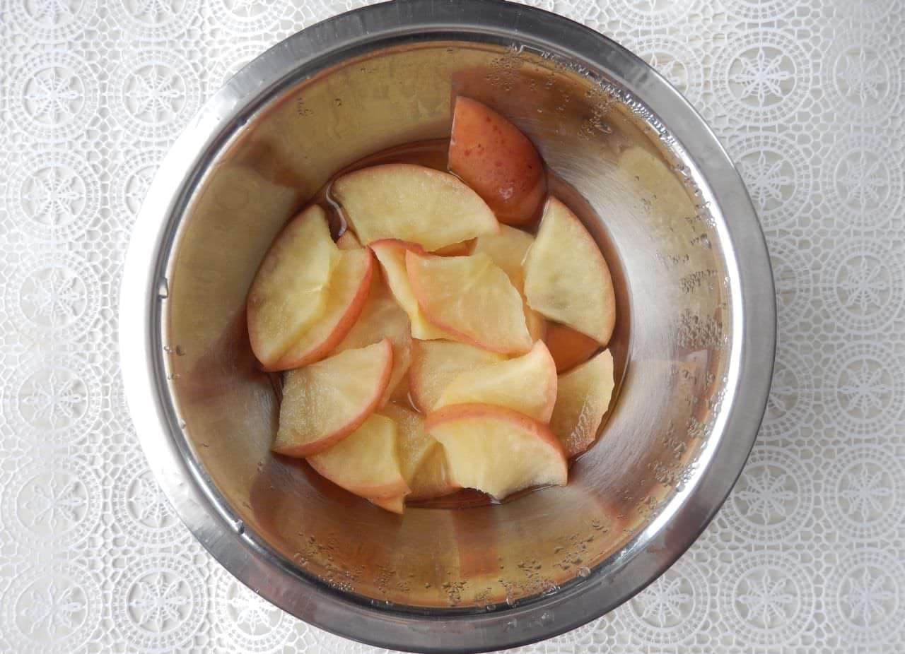 ホットケーキミックスを使って作る「りんごのおやき」