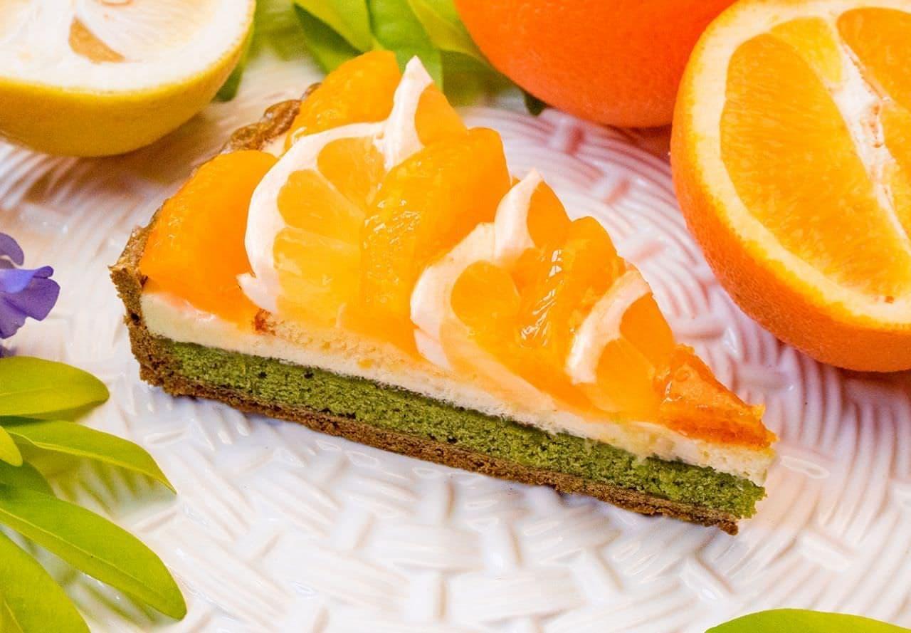 キル フェ ボン「柑橘と抹茶マドレーヌのタルト」