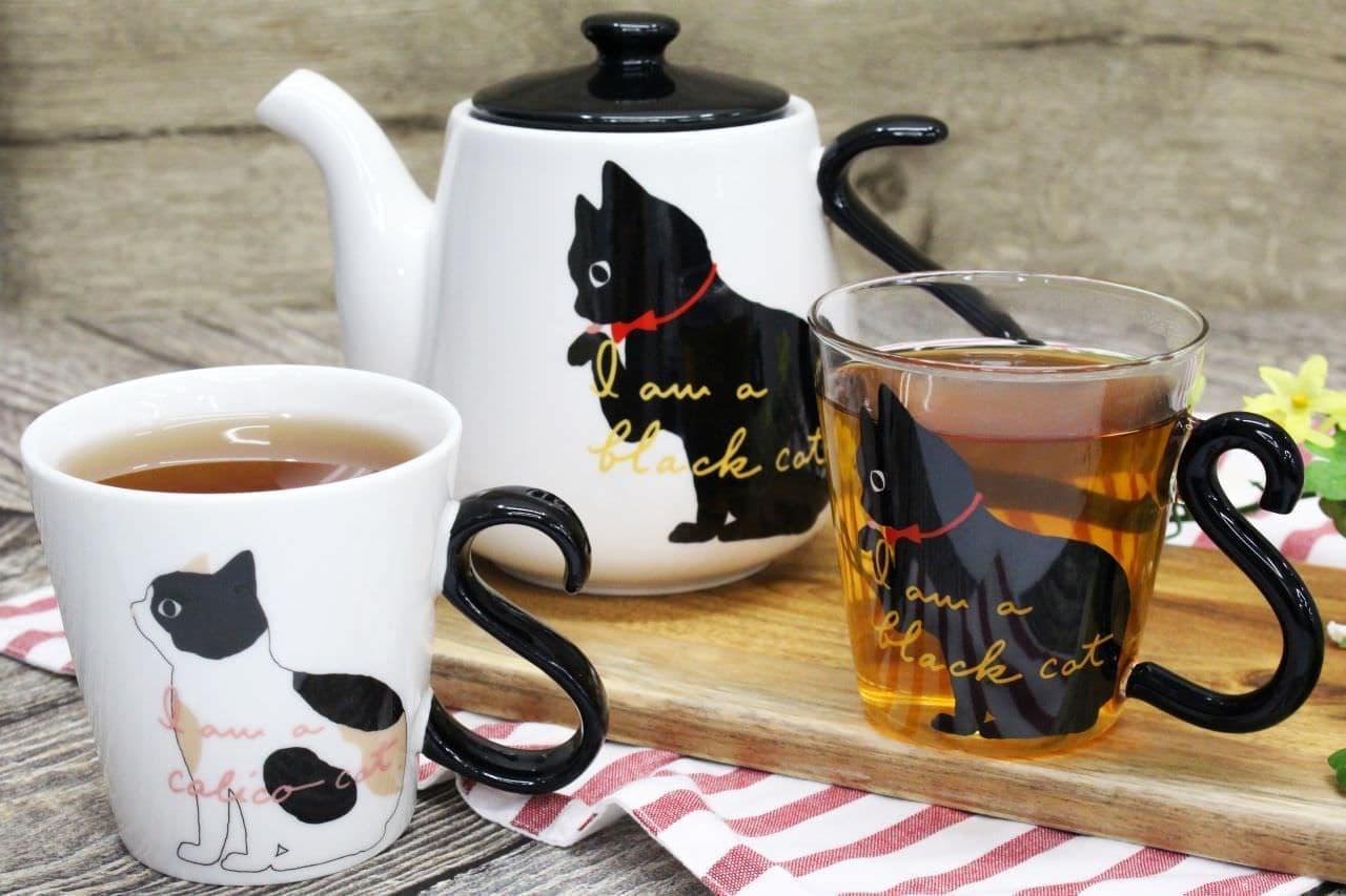 ニトリ「猫デザインのマグカップ&ティーポット」