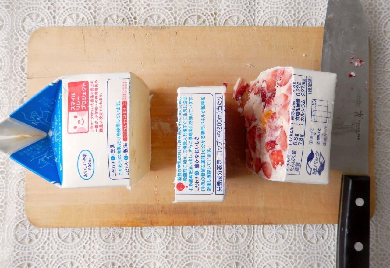 牛乳パックを振って作る「アイスケーキ」のレシピ